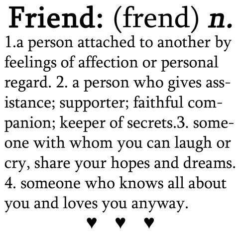 Friend definition essay